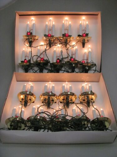 2 Boxed Sets of Candle Cluster Light Strands - 72 Christmas Lights  VTG 1995
