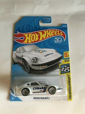 2018 HOT WHEELS NISSAN FAIRLADY Z HW SPEED AND GRAPHICS WHITE #9/10
