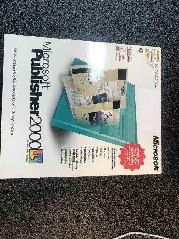 Mircosoft Publisher 2000 Software  Complete