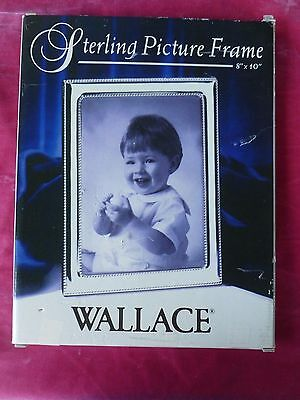 LARGE  WALLACE STERLING SILVER FRAME OLD NEW STOCK PREVIOUSLY OWNED 8 X 10