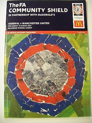 Football Programme. FA Community Shield, 10.08.2003. Arsenal v Manchester United