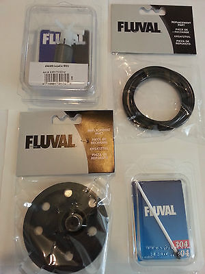 - Fluval 404 405  Filter Tune Up Kit Complete w/ Impeller, shaft, cover, seal ring