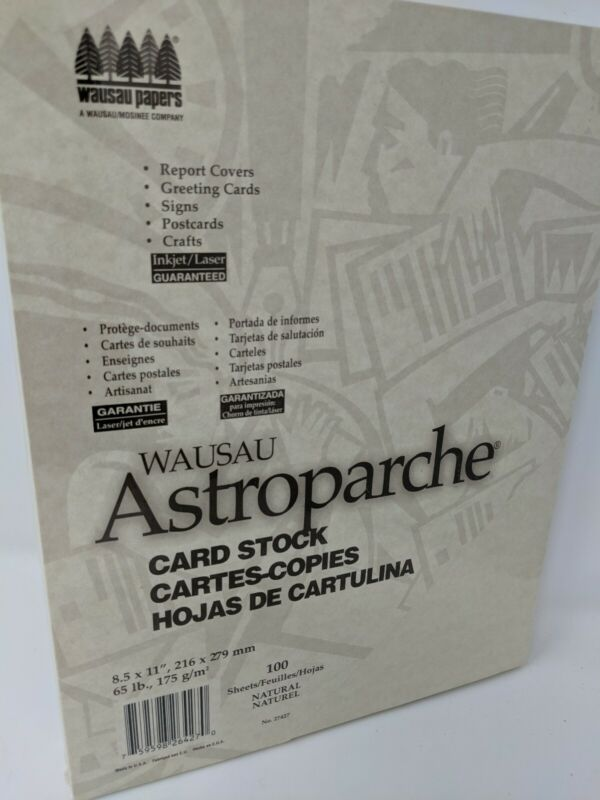 Wausau Astroparche  Specialty Cardstock, 8.5 X 11 Inches, Natural, 100 Count (27