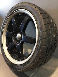 """AU RACING 18"""" ALLOY WHEELS WITH TOYO PROXES R1R SEMI SLICK TYRES Carramar Fairfield Area Preview"""