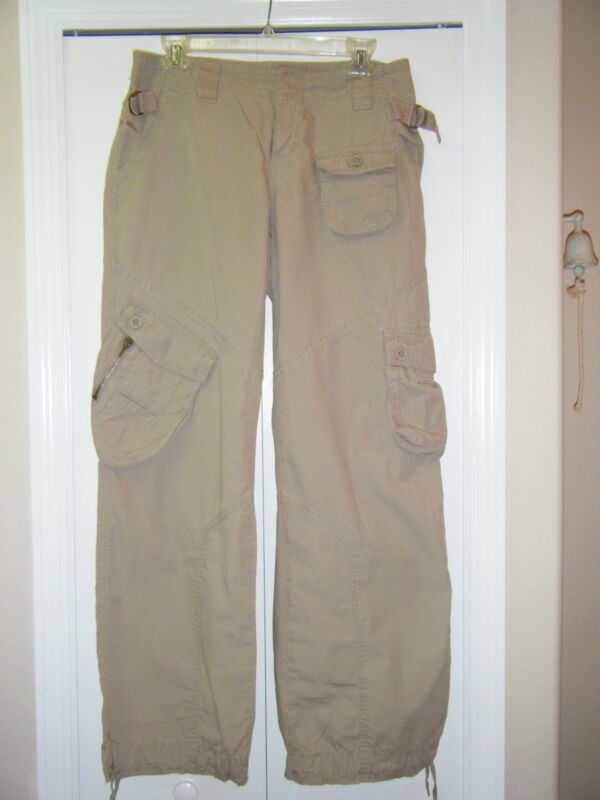 MODE INTERNATIONAL KHAKI 100% COTTON PANTS WITH 2 FRONT 2 BACK AND 3 SIDE POCKET