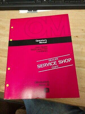 Original Oem John Deere 6600 7700 Combines Operators Manual Om-h84605 Issue J2