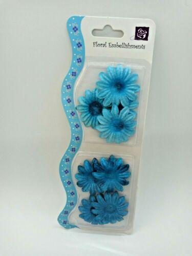Prima Marketing  Blue Floral Embellishments  #508821