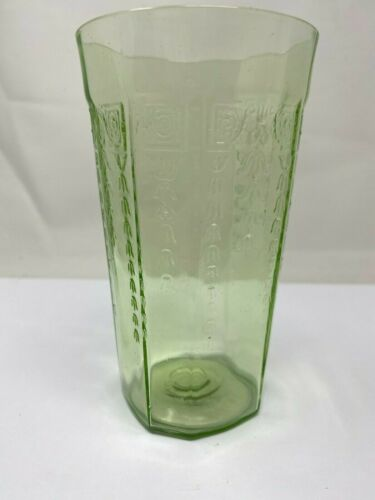"Depression Glass Green Princess 5 1/4"" Tumbler in **EXCELLENT CONDITION**"