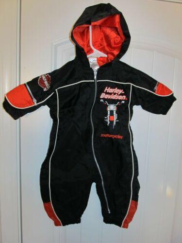 Harley Davidson hooded one piece jacket -  Infant 6/9 months