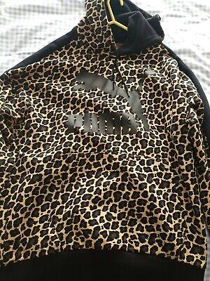 Puma Cheetah Print Hoodie Size Large
