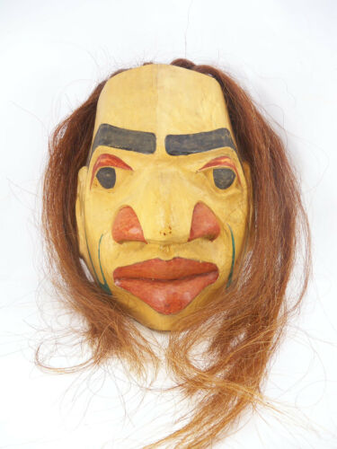 Pacific Northwest Native American Kwakiutl Style Spalted Mask Signed J Cano