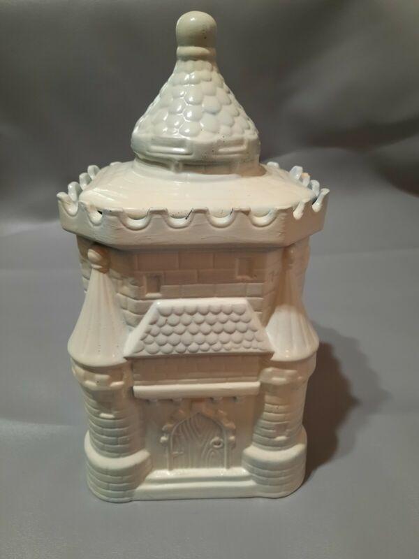 VINTAGE CASTLE COOKIE JAR SOUVENIR BUILDING COLLEY POTTERY