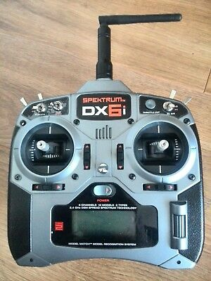 Spektrum Dx6i Rc Radio Transmitter With Receivers And Accessories