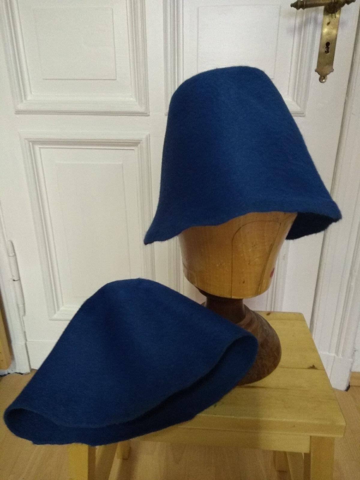 Neu Hutstumpen Melousin blau Modist Hutmacher Zubehör