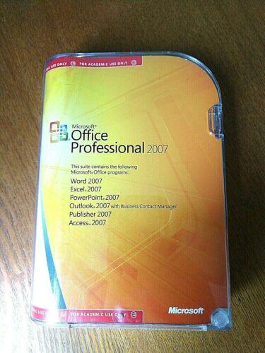 Microsoft Office Professional 2007 Academic Version