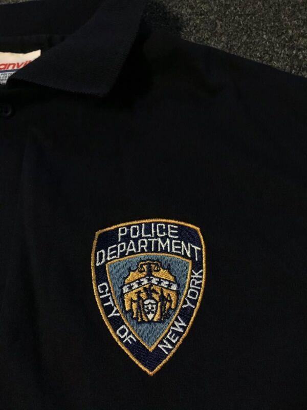 Vtg 90s New York Police Polo Shirt XL Highway Patrol NYPD Drug Trafficking Unit