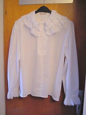80er Jahre od. früher Damen-Bluse weiß 40/42? Dirndl/Folklore VINTAGE - KARNEVAL