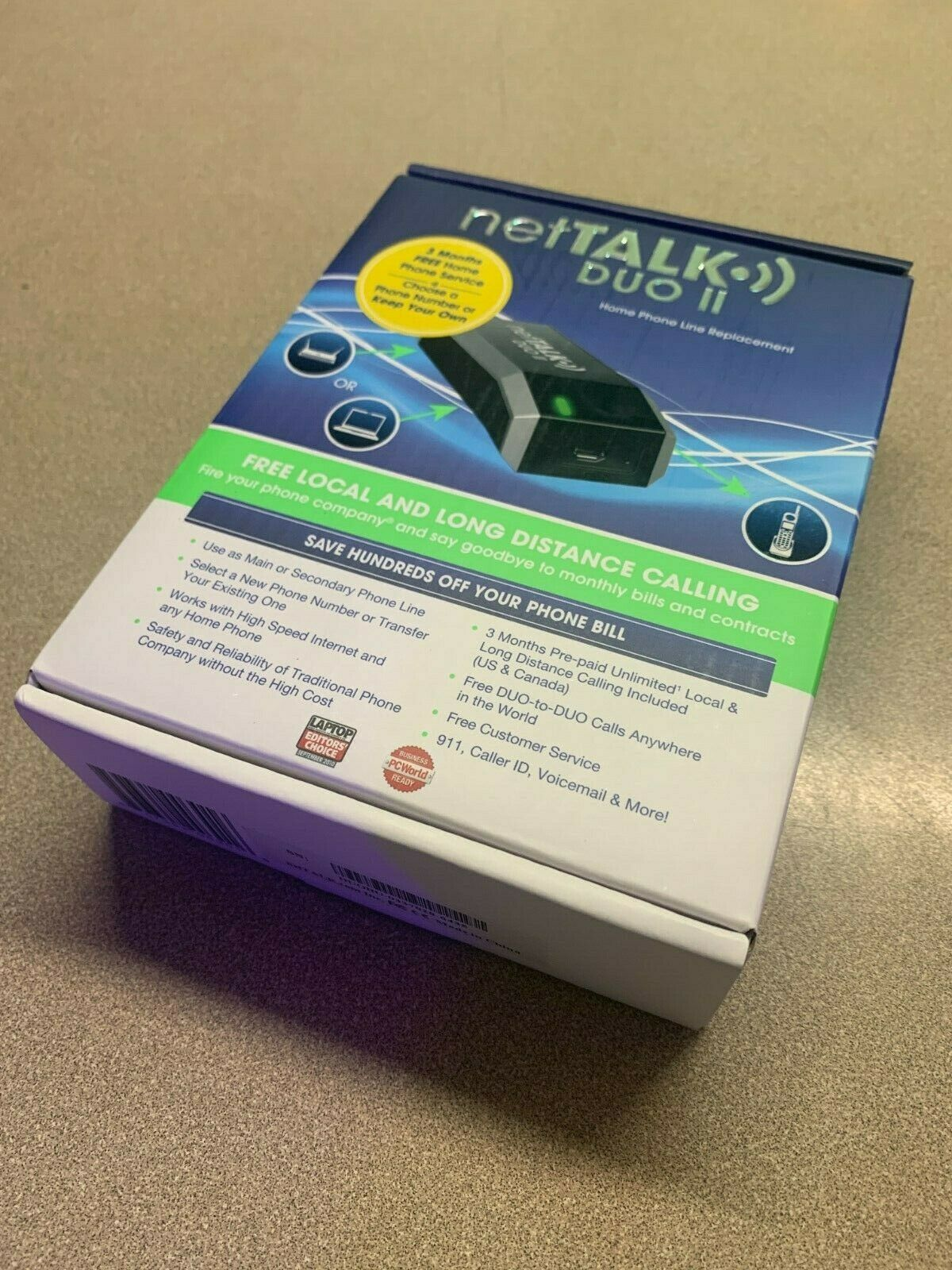 New NetTalk Duo II VoIP Home Phone Device With 3 Month Activ