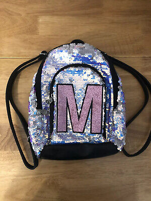 Justice Backpacks For Kids (Justice for Girls Initial Flip Sequin Mini Backpack)