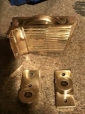 Brass Art Deco Sash Window Pulley 8mm For Outside The Frame