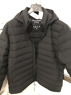 Abercrombie and Fitch Mens XXL D BLACK Hoodie Jacket.