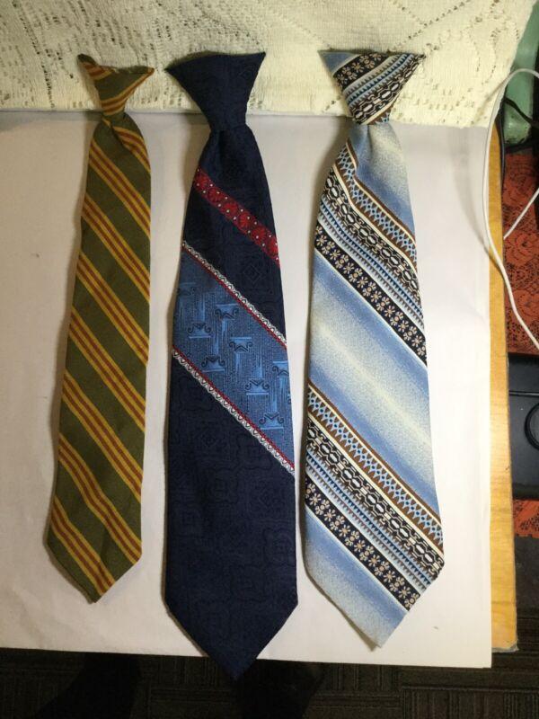 Vintage 3 Story Cravats Men's Clip On Neck Ties Classic Wide