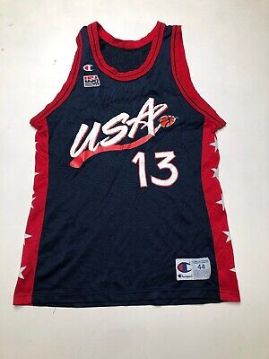 Champion Vintage Team USA Basketball Jersey Shaq O'Neal Lakers Sz 44 L 1994 NBA