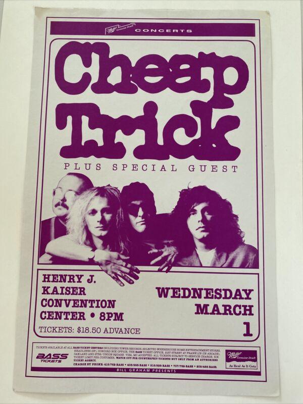 Cheap Trick Henry J Kaiser Convention Center 1990's Original Concert Poster
