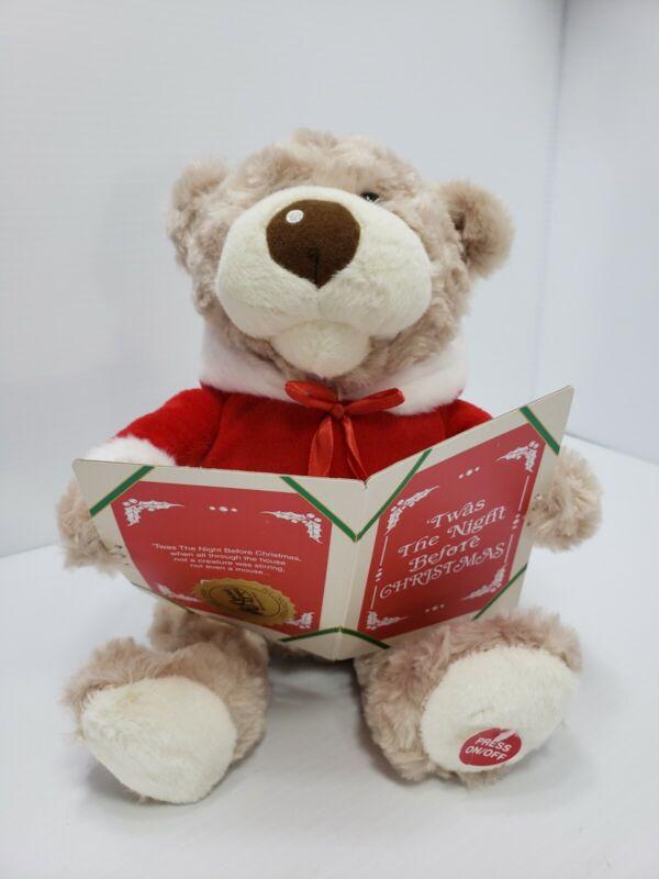 Nice! - Cracker Barrel - Story Time Teddy Bear -  Plays Night Before Christmas