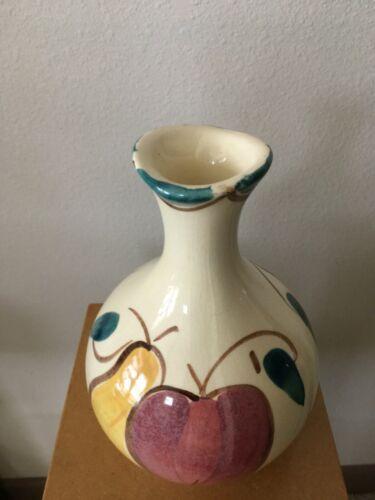 "Vintage Purinton Pottery Slip Ware Apple Pear 9""H Vase"