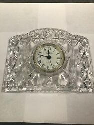 Royal Gallery Crystal Desk/Table Clock with New Battery