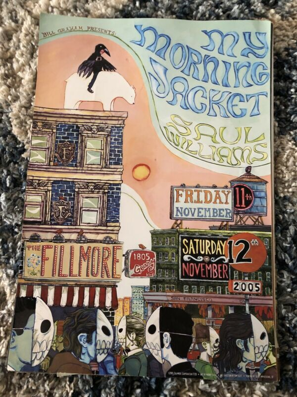 My Morning Jacket Poster Saul Williams Fillmore Offset 2005