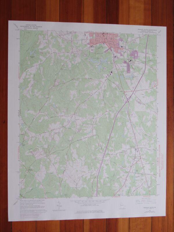 Newnan South Georgia 1974 Original Vintage USGS Topo Map