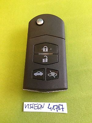 MAZDA 2 3 4 5 6 RX8 MX5 4 BUTTON CENTRAL LOCK ALARM REMOTE KEY FOB VISTEON 41787
