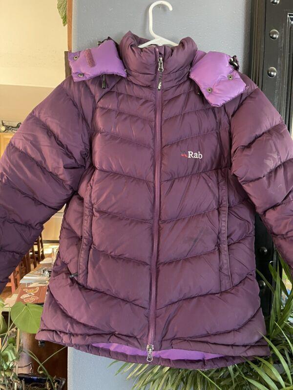 rab womens down jacket medium size