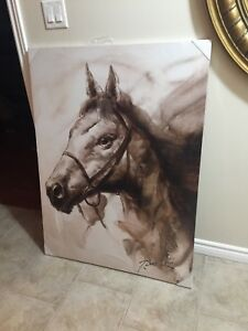 Large horse canvas picture