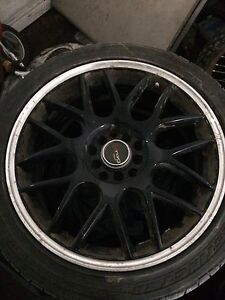 4 17 inch universal rims and tires