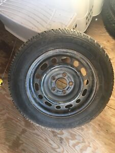 4 195/65R15 GoodYear winters on 5x114.3 steel rims