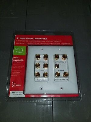 NEW - OnQ F9008-WH-V1 2-Gang 5.1 Home Theater Outlet Wall Plate - 8 AVAILABLE for sale  Shipping to India