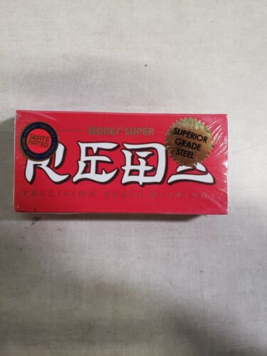 Bones Super REDS Set of 8 Skateboard Bearings (BSACSR88)