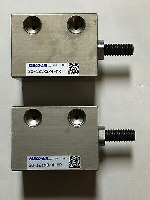 Lot Of 2 Fabco-air Pneumatic Cylinder Sq-121x34-mr
