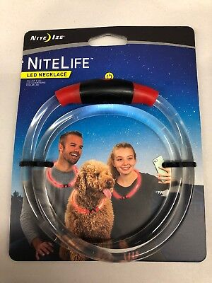 Nite Ize NiteLife LED Necklace Red Glow Or Flash NEW](Cheap Glow Necklaces)