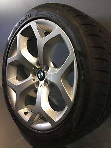 """BMW X5 E70 20"""" STAGGERED GENUINE ALLOY WHEELS AND TYRES Carramar Fairfield Area Preview"""