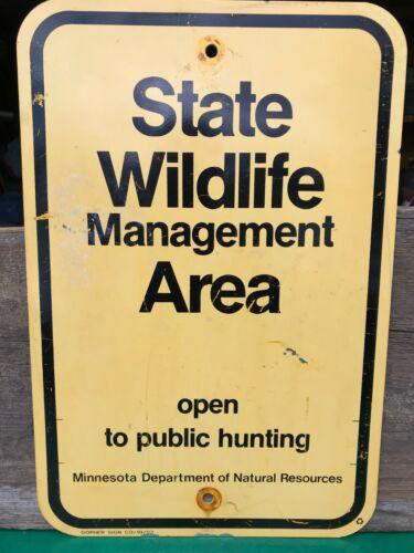 Vintage State Wildlife Management Area Hunting Sign