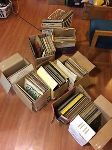 A bunch of old albums.