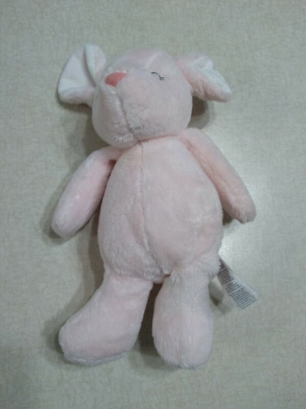 Carters Pink Mouse Plush Baby Stuffed Animal Sleeping Closed Eyes Lovey 66740