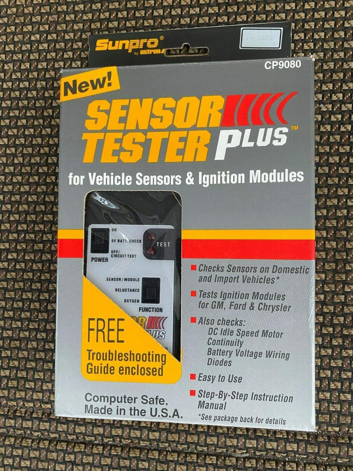 SunPro Sensor Tester Plus, 1980-1990 cars, New, Made in USA