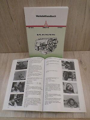 Deutz Werkstatthandbuch Motor für Traktor 514 F12L514 .