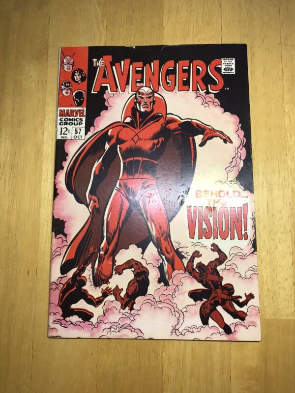 The Avengers #57 (Oct 1968, Marvel) 1st Appearance Of Vision F/VF Unrestored