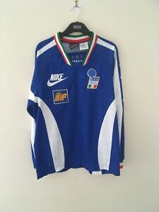 Very Rare Italy Football Training Long Sleeved Shirt Nike Player Issue 1996/97